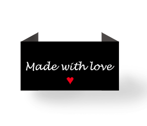 Made with love - black - endfold centerfold