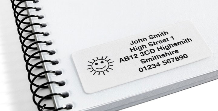 Address labels 60x26mm.