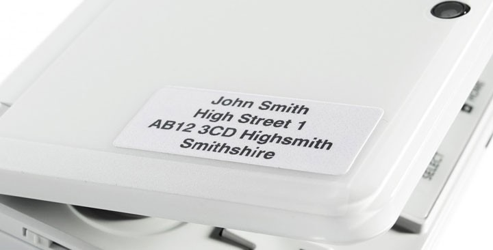 Address stickers 37x16mm.