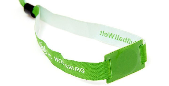 Festival wristbands with RFID and soft PVC slider