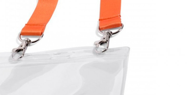 Lanyard with 2 carabiner clips