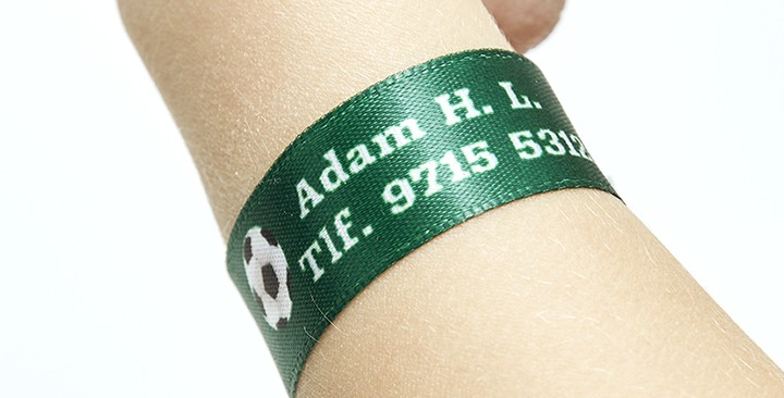 Printed ID Wristbands for children