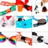 Festival wristbands with RFID and hard PVC slider