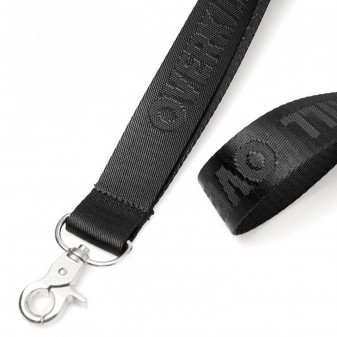 Deluxe lanyard with debossed text or logo