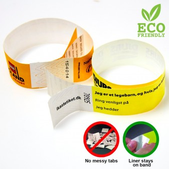 Disposable tyvek wristbands
