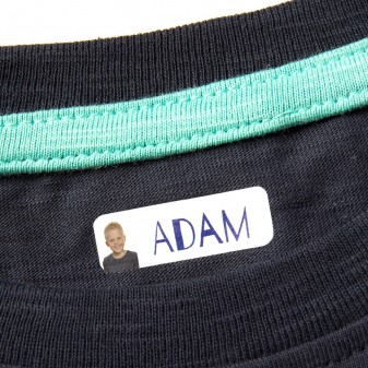 Iron-on name labels with your name