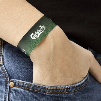 ONCE digitally printed wristband