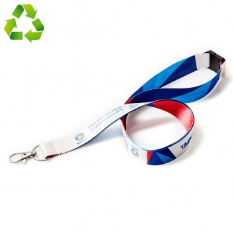 Sustainable lanyards from recycled material