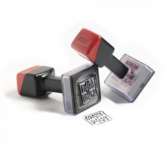 UV stamps with logo