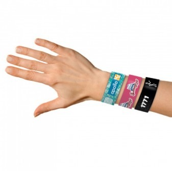 VIP wristbands with digital printing